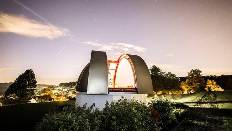 1977 sprach die Gemeindeversammlung einen Kredit von 45 000 Franken für den Bau des Sternwartegebäudes.