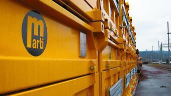 Vergangenheit: Die Container der Marti AG stehen nicht mehr am Wanger Bahnhof (Bild: jpw)