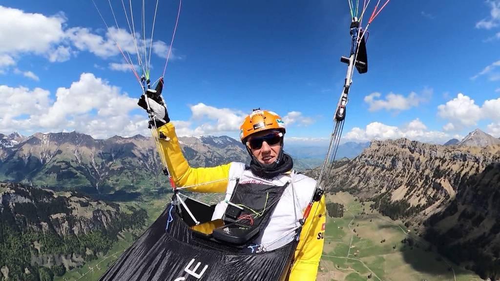 Chrigel Maurer trainiert am Niesen für die X-Alps