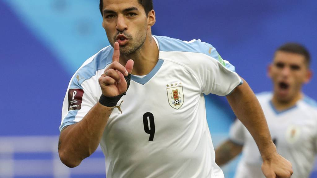 Luis Suarez, hier im Tenü von Uruguays Nationalmannschaft, ist für Atlético Madrid wertvoll