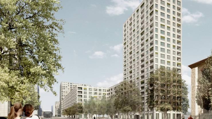 Das Projekt von Gut&Schoep Architekten GmbH und Neuland ArchitekturLandschaft GmbH soll ab Sommer 2021 in Altstetten entstehen – wenn die Stimmbevölkerung zustimmt.