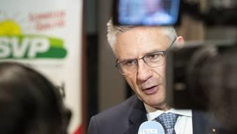 Andreas Glarner nach seiner Wahl vor der Kamera: «Ich bin bereit, auch in schwierigen Situationen hinzustehen und meinen Kopf hinzuhalten.»