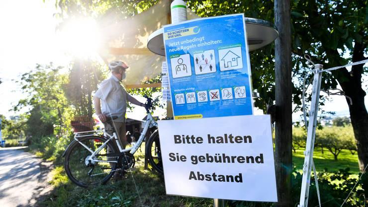 Schutzmassnahmen gegen das Coronavirus an einem Festival in der Ostschweiz. (Symbolbild)
