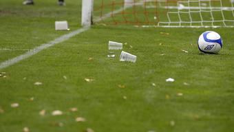 Ein Becherwurf sorgte in Graz für einen 40-minütigen Spielunterbruch