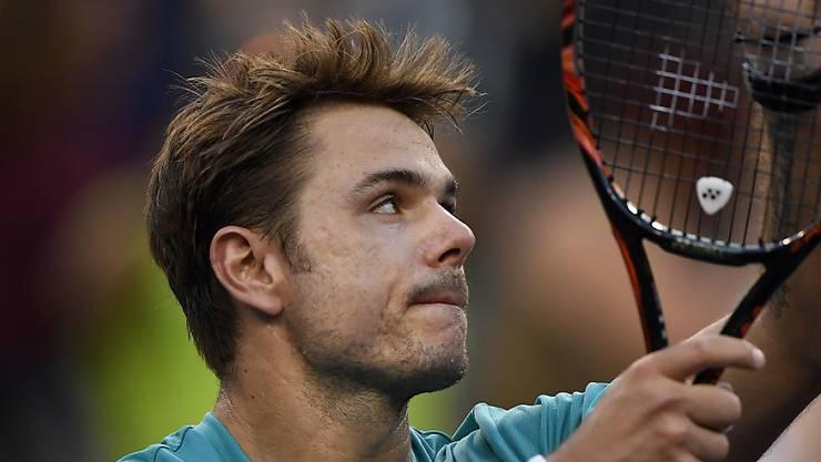Stan Wawrinka in Siegerpose in Indian Wells gab es bislang nicht regelmässig. Erst zweimal bei zehn Teilnahmen erreichte er die Viertelfinals.