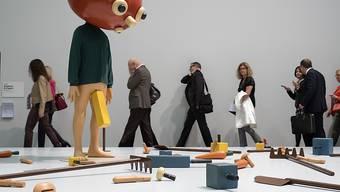 """Die Installation """"Tomato Head (Green)"""" des amerikanischen Künstlers Paul McCarthy wechselte an der Art Basel für 4,75 US-Dollar den Besitzer."""
