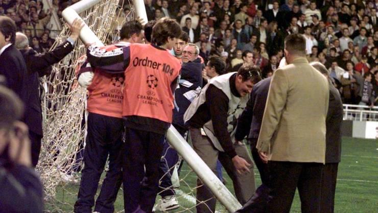 In Madrid fiel am 1. April 1998 das erste Tor schon vor dem Anpfiff