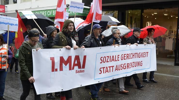 1.-Mai-Feier in Baden. (Archiv)