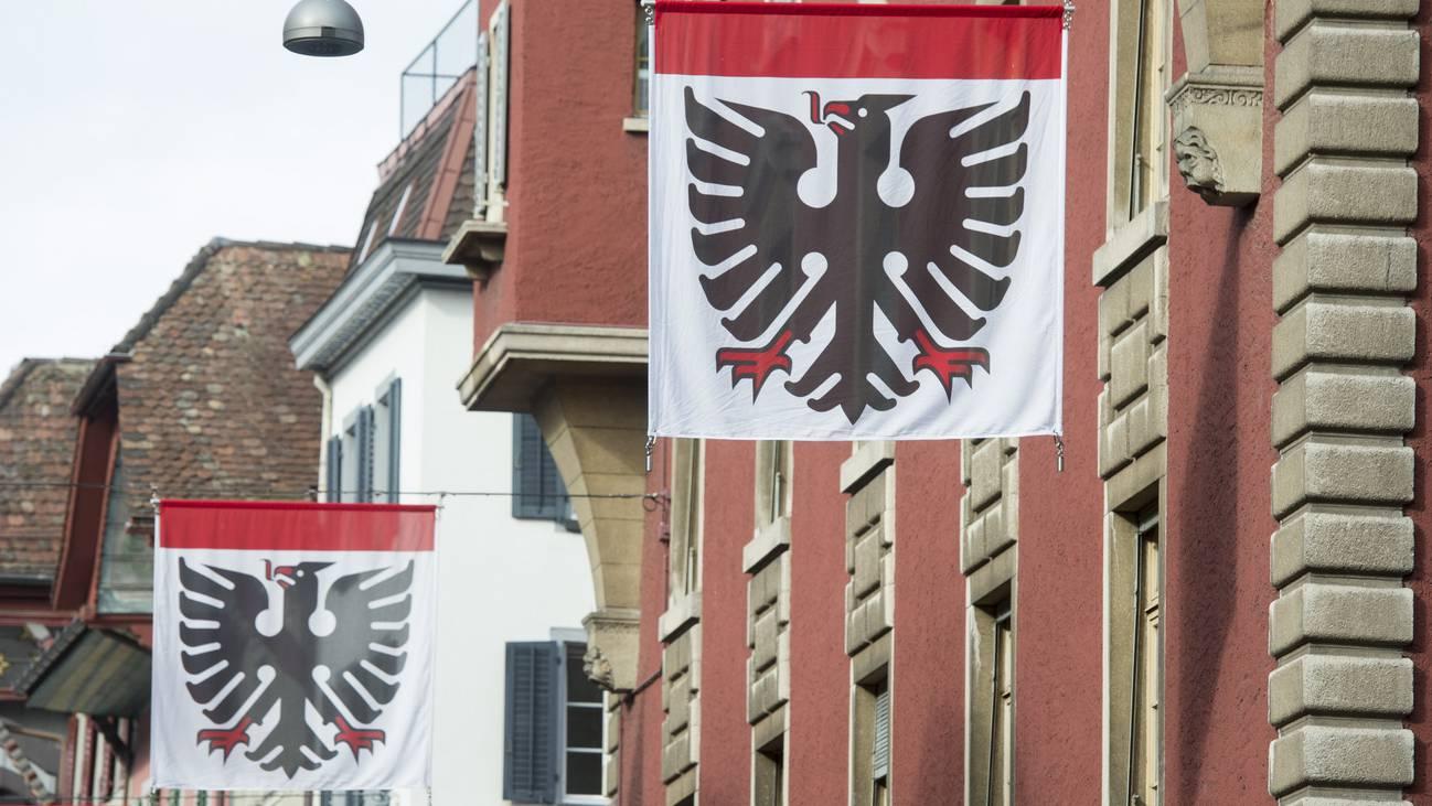 Aarau Flagge Altstadt