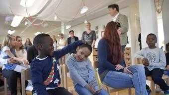 Bilderstrecke Eröffnung Kindergarten Perron 3 Grenchen