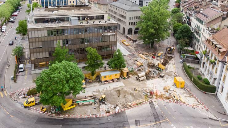 """Der Postplatz und sein """"Hinterland"""" beschäftigten den Solothurner Gemeinderat."""