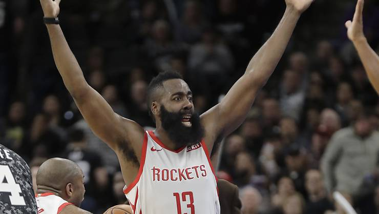 Ein frustrierter James Harden von den Houston Rockets