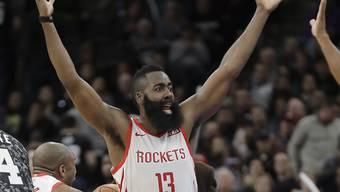 Ein frustrierter James Harden von den Houston Rockets