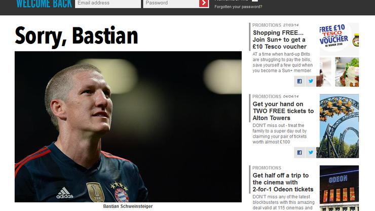 Das englische Boulevardblatt entschuldigt sich beim deutschen Fussballer.