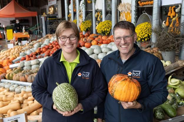 Karin und Michael Studer, Erfinderduo des Kürbismarktes.
