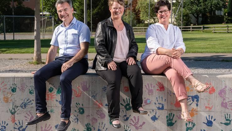 Die Grossratskandidaten der CVP Obersiggenthal: Walter Vega, Anne-Käthi Hess, Bettina Lutz Güttler