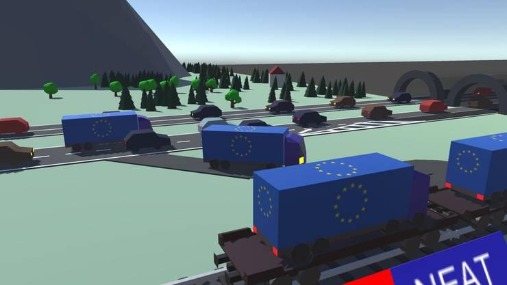 Im Spiel zur Gotthardsanierung geht es um die Frage, ob eine zweite Röhre gebaut werden soll.
