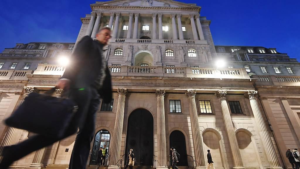 Medienbericht: Die britische Notenbank steht offenbar kurz vor der Einführung von Negativzinsen. (Archivbild)