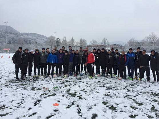 Sogar bei Schnee geschah es, eben die Trainerausbildung.