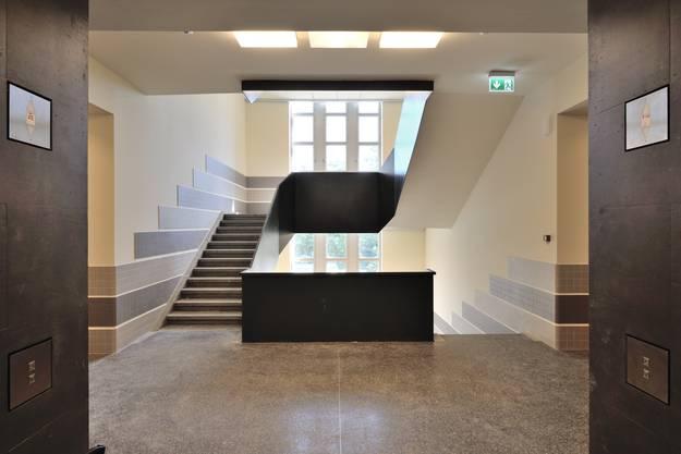 Ein neues Treppenhaus der Sihlpost beim Zürcher Hauptbahnhof.