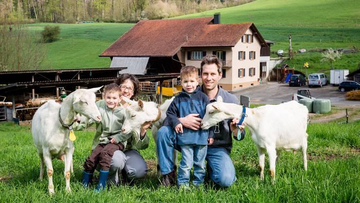 Familie Wüthrich aus Elfingen stellt ihren Betrieb auf Bio um.