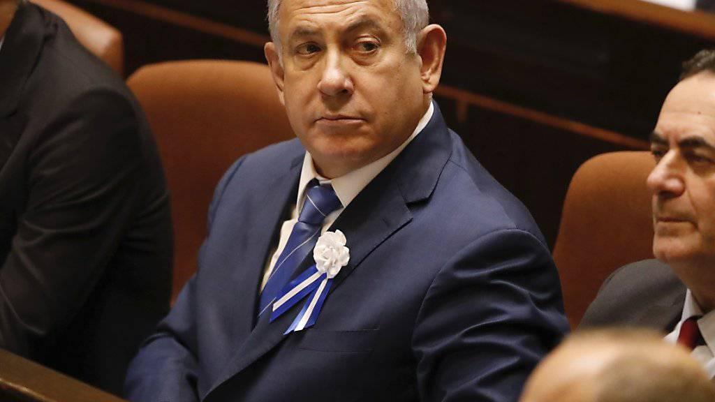 Strebt eine Koalition aus rechten und religiösen Parteien an, fand bislang mit ihnen aber keine Einigung: Israels Ministerpräsident Benjamin Netanjahu. (Archivbild)