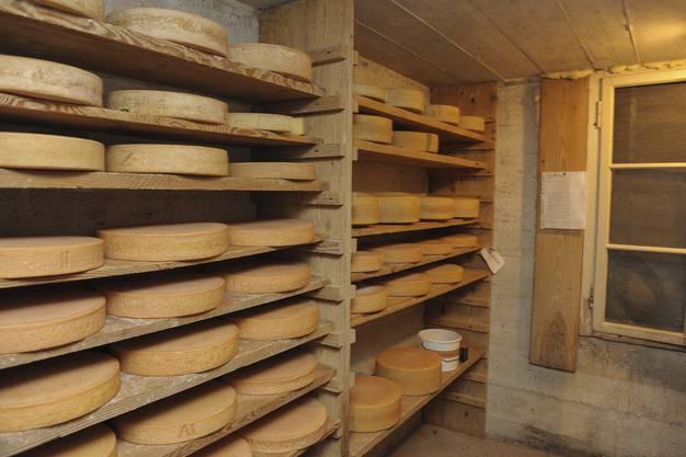 Hier lagert der Biobauer seinen Käse.