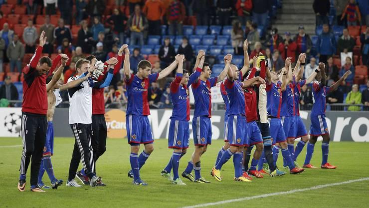 Die FCB-Spieler freuen sich auf eine weitere Champions-League-Saison.