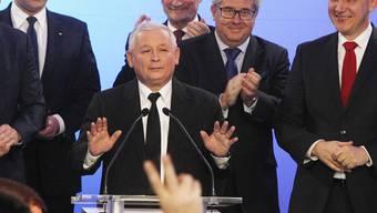Moniert Wahlbetrug in Polen: Oppositionsführer Jaroslaw Kaczynski