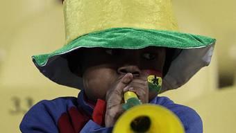Ein junger Fan der Black Stars mit Vuvuzela