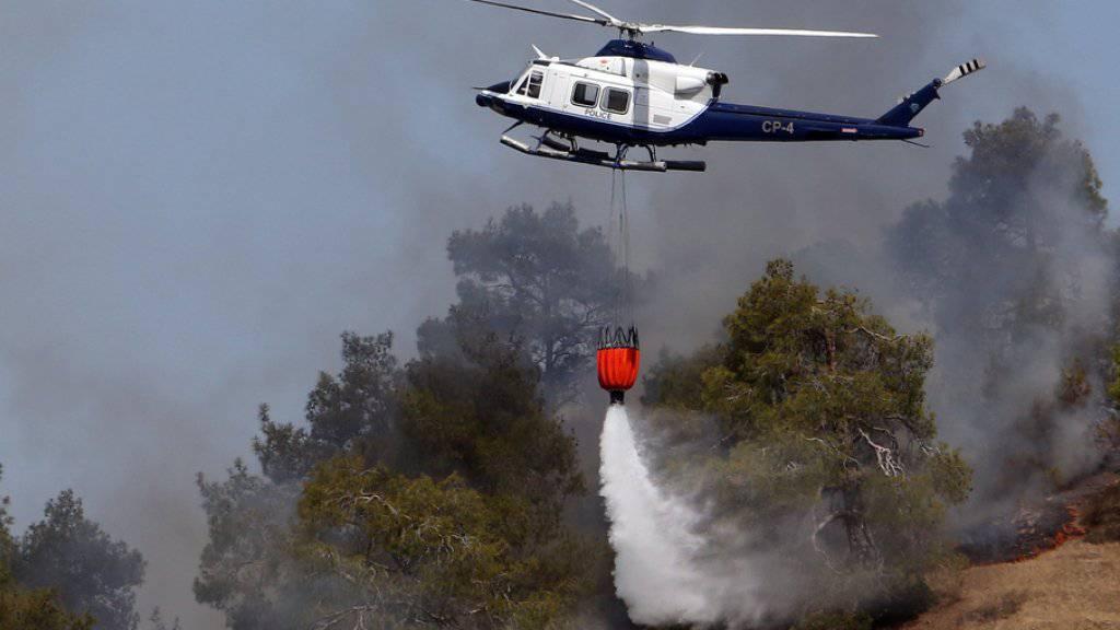 Unterdessen helfen fünf Länder den grossen Waldbrand auf Zypern zu bekämpfen. Gesamthaft 15 Löschflugzeuge sind im Einsatz.