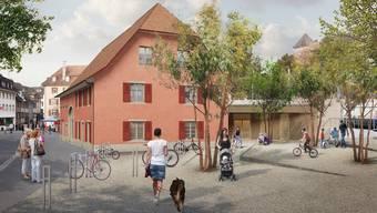 Im März 2018 will die Mütter- und Väterberatung ihren Stützpunkt im Roten Haus in Rheinfelden eröffnen. (Visualisierung Archiv)
