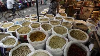 Ein indischer Markt (Symbolbild)