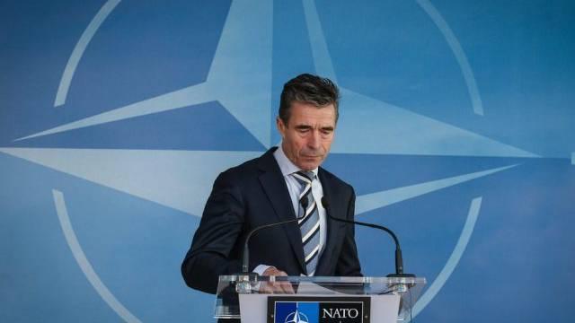 NATO-Generalsekretär Anders Fogh Rasmussen in Brüssel