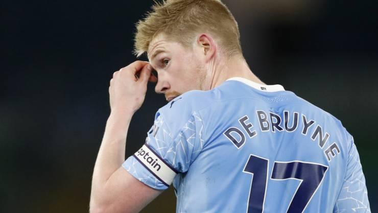Alles andere als zufrieden: Manchester Citys belgischer Topshot Kevin De Bruyne