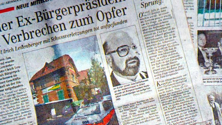 So berichteten die Zeitungen am 8. Juni 2000 über den Mordfall