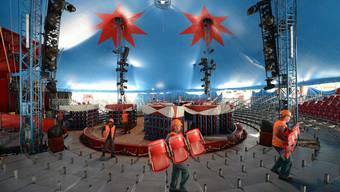 Der Zirkus Knie soll sein Zelt zukünftig auf dem Joggeli-Parkplatz aufschlagen. (Archiv)