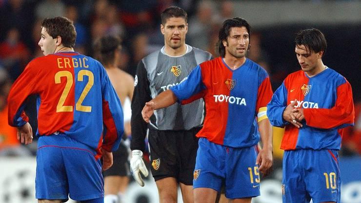 Secondos wie die Yakin-Brüder (rechts) und Ausländer wie Ivan Ergić trugen massgeblich zu den Champions-League-Erfolgen des FCB bei.