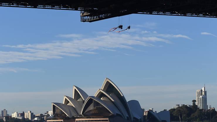 Greenpeace hat am Dienstag in Sydney eine Aktion für die Umwelt durchgeführt.