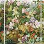Rudolf Stingels Blumen-Tryptichon («Untitled», 2018) betört durch seine Samtheit.