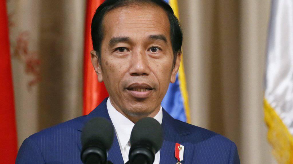 Er will mit harter Hand gegen Drogenhändler vorgehen: Indonesiens Präsident Joko Widodo hat die Sicherheitskräfte zu einem kompromisslosen Vorgehen im Anti-Drogen-Kampf aufgerufen.