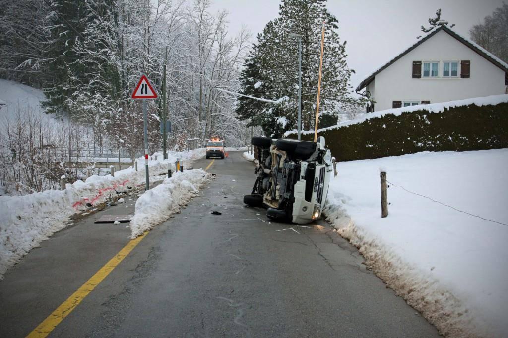 Unfall St.Georgen-Strasse (© Stapo SG)