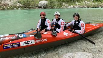 Nico Meier, Leano Meier und Melanie Mathys wollen an der Kanu-EM für Furore sorgen.