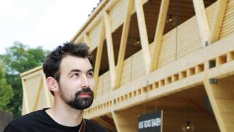 Die Holzkonstruktion von Peter Heusler wird ab Dienstagmorgen abgebaut
