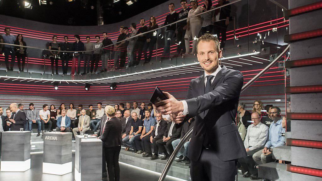 Bald nicht mehr Dompteur in der «Arena»: Jonas Projer geht zu Ringier. (Archivbild)
