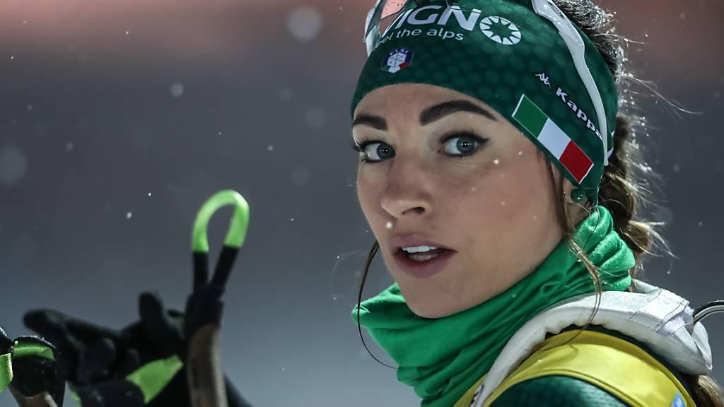 Das Gesicht der Biathlon-WM 2020: Dorothea Wierer, die amtierende Siegerin im Gesamtweltcup, wuchs nur weniger Minuten von der Biathlon-Arena in Antholz auf