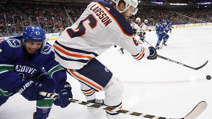 In der NHL ohne Glück: Bei den Vancouver Canucks konnte sich Anton Rödin (li.) nicht durchsetzen