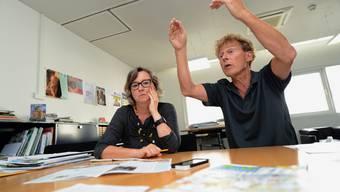 Die Mieterverbands-Chefs: Geschäftsleiterin Patrizia Bernasconi, und Co-Geschäftsleiter Beat Leuthardt.
