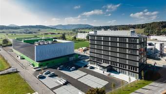 Der neue green.ch-Hauptsitz neben dem Datacenter in Lupfig. zvg