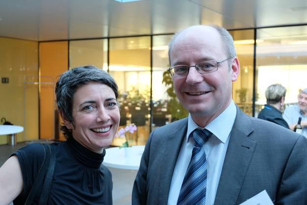 Limmatstadt-AG-Geschäftsführerin Jasmina Ritz und der Aescher Gemeinderat und Kantonsrat Diego Bonato (SVP).